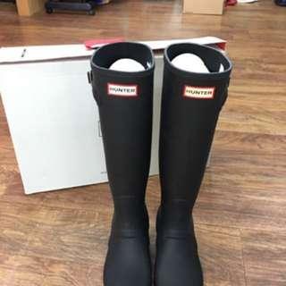 Hunter 正品 黑色雨靴 🌧️長雨靴 雨鞋39