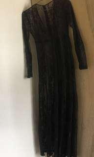 Forever 21 連身裙 Halloween 萬聖節Lace dress 蕾絲沙灘度假罩衫/孕婦寫真/情趣內衣