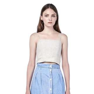 The Editor's Market Celyn Crop TOP (Sand)