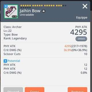 PBA Legendary Jaihin Bow Maplestory M bow