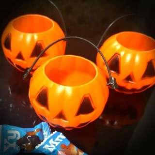 Baby/ Kids Halloween Party Gift/ Present - Jack-O'-Lantern Pumpkin Mini Bucket/ Box/ Container