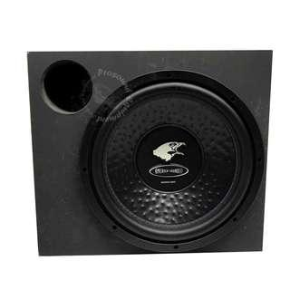 AMERICA SOUND REFERENCE SERIES 12'' SUB WOOFER (R 12SQ) WITH BOX BUILD IN MONOBLOCK AMP 1500W