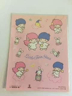 Sanrio vintage Little Twin Stars 貼紙 1996