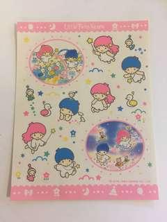 Sanrio vintage Little Twin Stars 貼紙 1994
