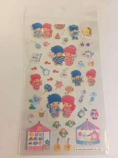 Sanrio vintage Little Twin Stars 貼紙 2005