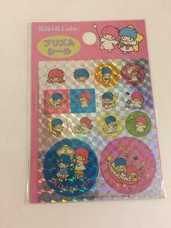 Sanrio vintage Little Twin Stars 貼紙 1997