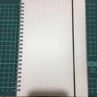 Muji Inspired Grid Notebook A5