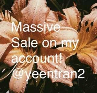 Massive sale on my account! Everything affordable