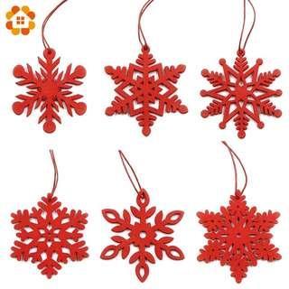6pc Set / Christmas Decorations / Snowflake / Gift