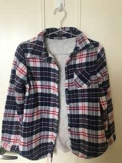清屋-Maple藍色格仔毛毛衫