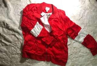 Brand New Forever 21 Red Jersey Jacket