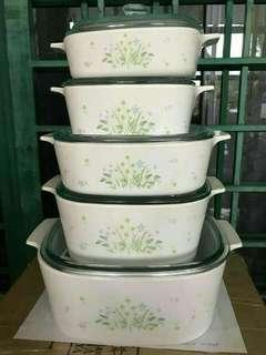 SET CASSEROLE CONINGWARE