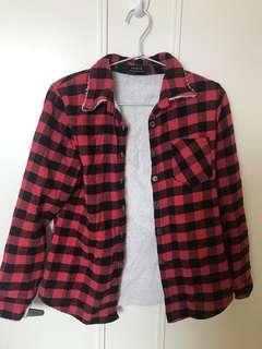 清屋-Maple紅色格仔衫
