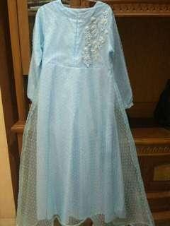 Gamis/Dress Organza dot Busui