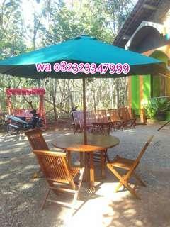 Kursi teras, kursi taman, kursi cafe, meja cafe, meja makan,
