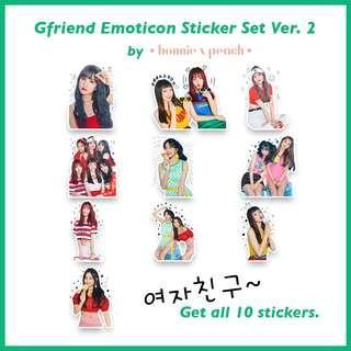 Gfriend Emoticon Sticker Set Ver. 2
