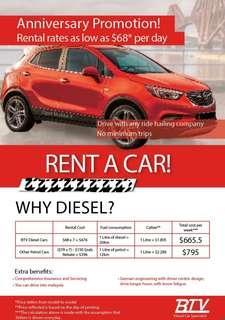 Renault Scenic Diesel Car for rent / grab / rental