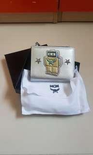 BN MCM Silver Robot Compact Wallet