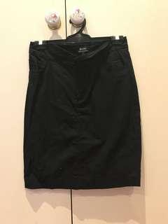 Bardot black high waisted skirt