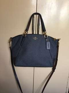 Authentic Coach Jacquard Crossbody