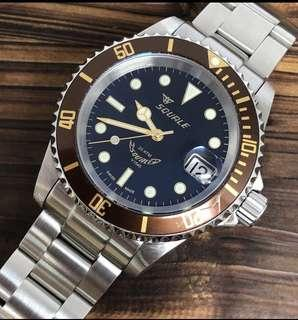 Squale 20 ATMOS Heritage 1545 MK2 40mm Under Warranty Diver Watch