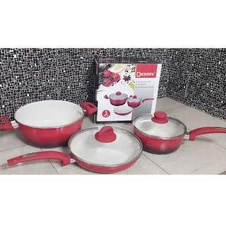 Panci Keramik Dessini - Panci Set Dessini 5 pc Keramik Anti Lengket Dan Awet Di Gunakan