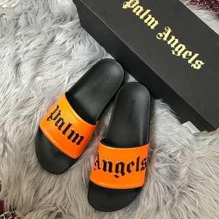 Palm Angels Orange Pool Slides