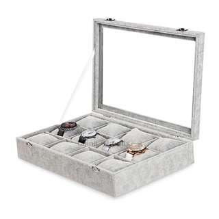 12-grid Ice Velvet Pillow Watch Box (High-grade Flannel)