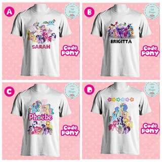 🦄 My Little Pony🦄 MLP Family Tshirts Personalised Birthday Party