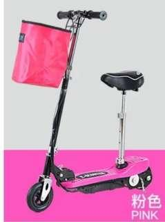 🚚 摺疊電瓶電動滑板車 有坐墊