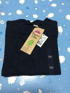 TOPVALU BABY LS TEE 100%cotton (深藍色)