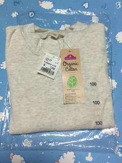 TOPVALU BABY LS TEE 100%cotton  (米白)