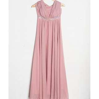 Old Rose Chiffon Gowns/ Dresses