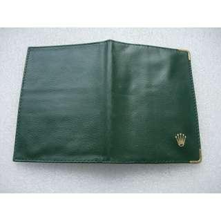 古老舊ROLEX勞力士綠色證件套