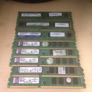 Assorted 4GB DDR3 1333mhz and !600Mhz for Desktop