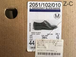 🚚 ZARA 真皮牛津鞋 藏藍 少穿 原價2490