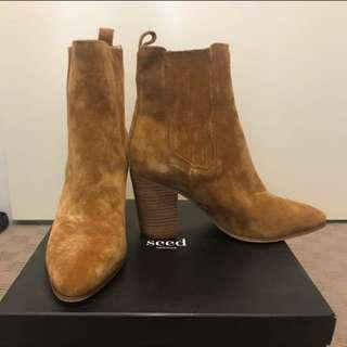 Seed suede ankle boots 41