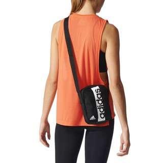ADIDAS LINEAR PER MESSAGER BAG 黑白 肩背包 側背包 小郵差包 S99975