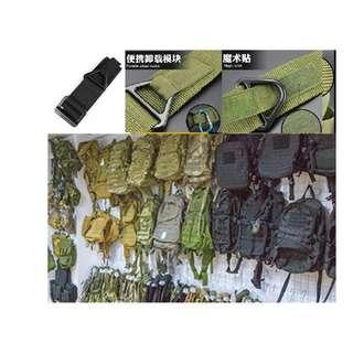 軍警消戰術救助生存遊戲鐵扣腰帶開封全黑新品