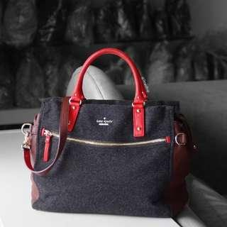 Authentic Kate Spade New York Wool Two Way Bag