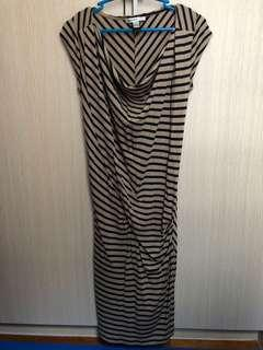 Mango (tan&navy blue striped) Dress (Mango Suit)