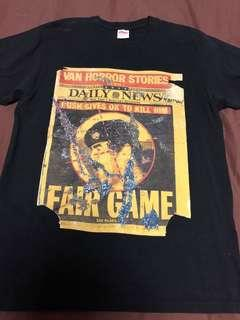 Supreme Fair Game Saddam Dash Snow tee t shirt