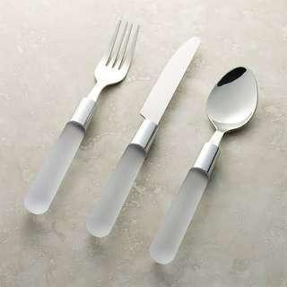 Crate and Barrel Pure Clear Utensils