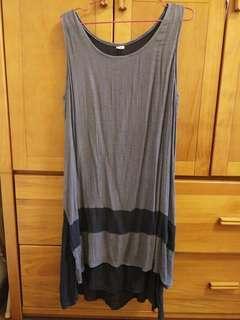 🚚 灰黑色無袖棉麻洋裝