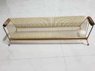 Vintage Vinyl Record drying rack