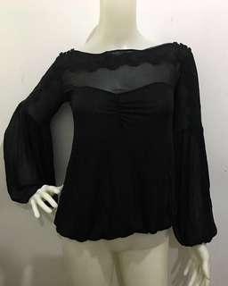 MANGO Black Chiffon Long sleeves