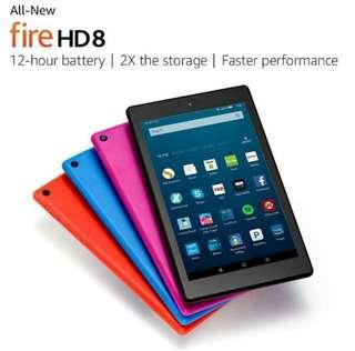 Amazon Fire HD 8 Tablet 32GB, 7th gen Blue/Yellow 2017 2018