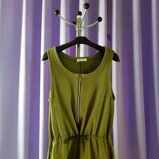 Green army jumpsuit