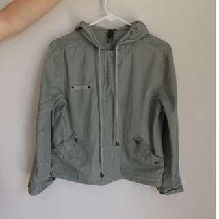 Army Green Crop Jacket