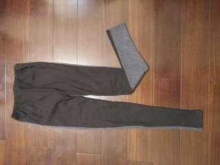 🚚 韓國撞色厚內刷毛內搭褲